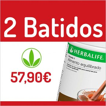 2 BATIDOS HERBALIFE por 57,90