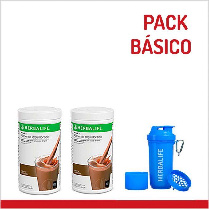 PACK BASICO HERBALIFE (2 BATIDOS + COCTELERA)