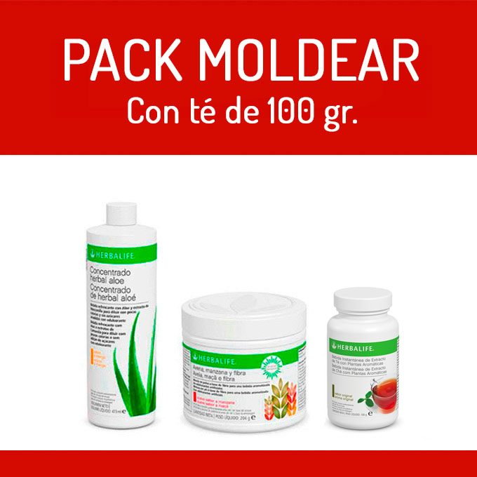 Pack Moldear con té de 100 gr.