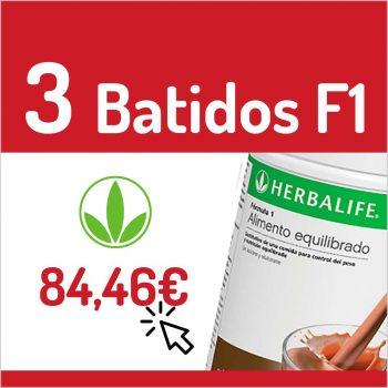 BATIDOS HERBALIFE - 3 BATIDOS F1