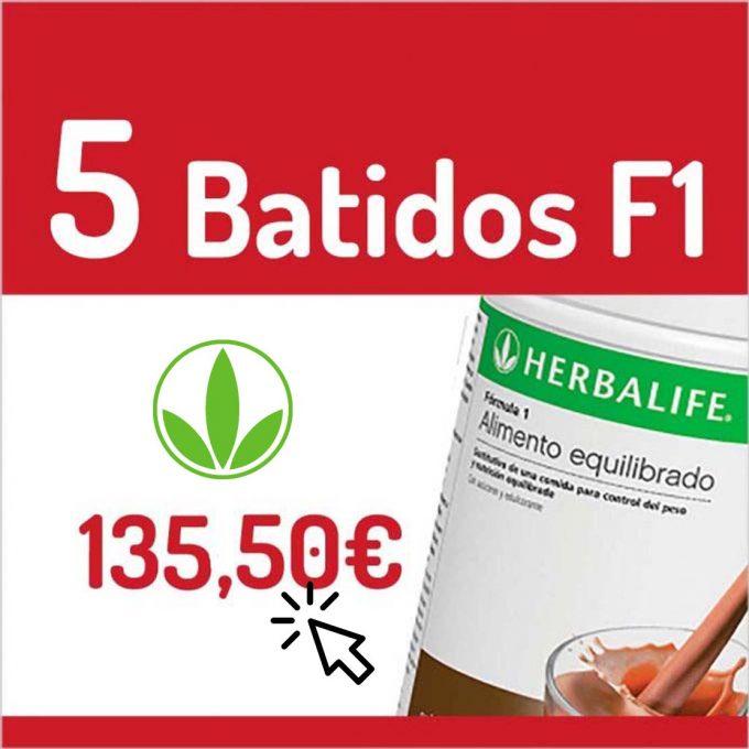 BATIDOS HERBALIFE - 5 BATIDOS F1